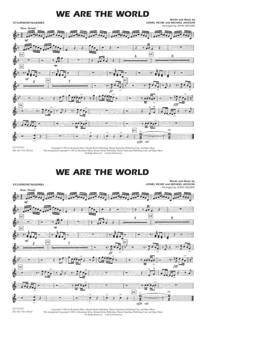 We Are The World - Xylophone/Marimba