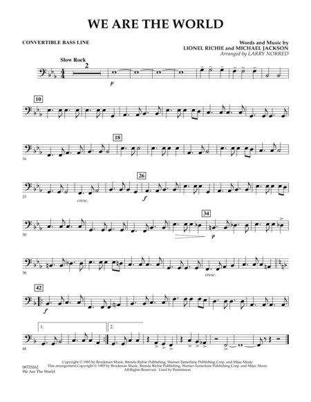 We Are The World - Convertible Bass Line