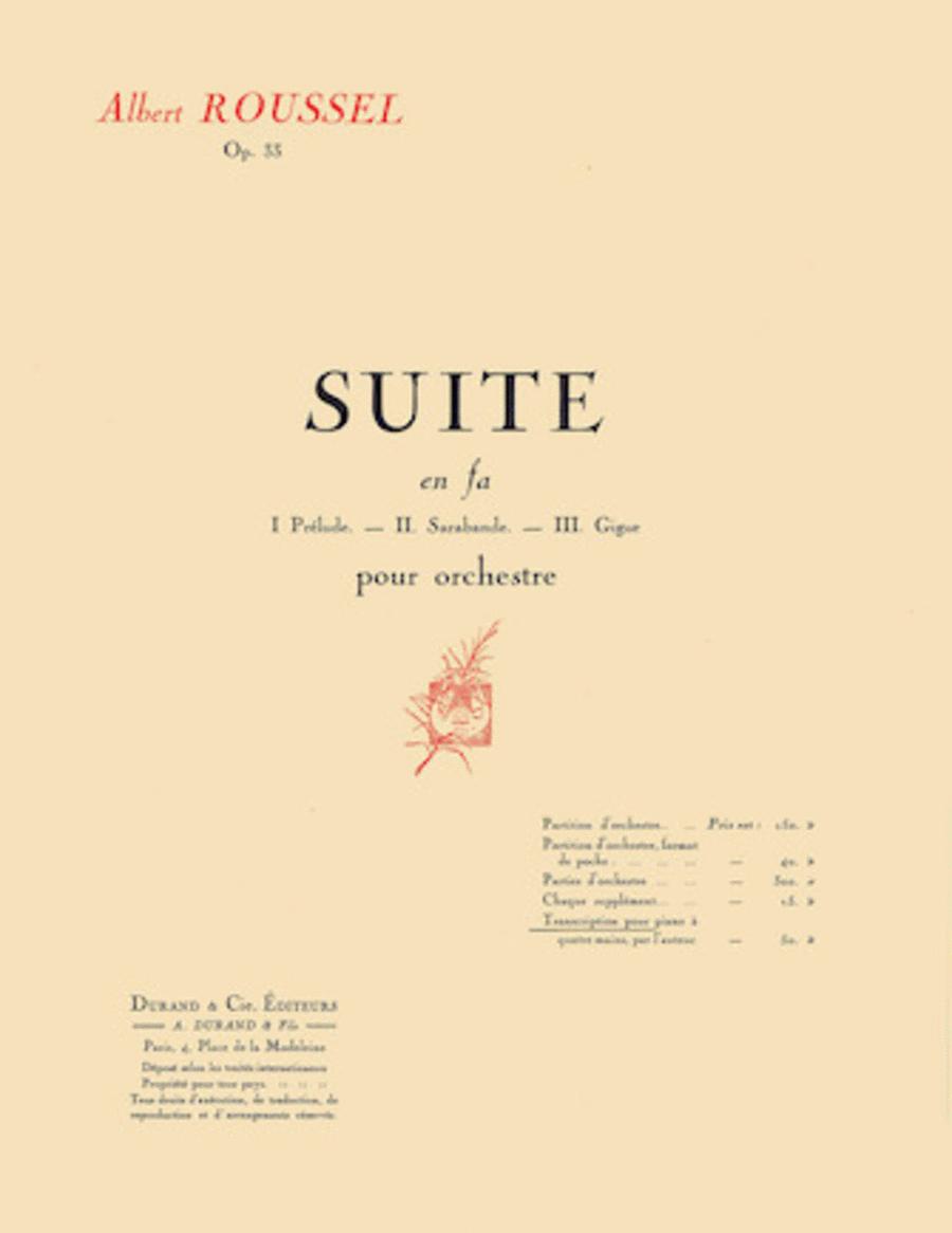 Suite in F, Op. 33