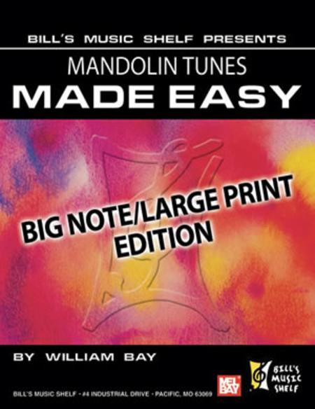 Mandolin Tunes Made Easy, Big Note/Large Print Edition