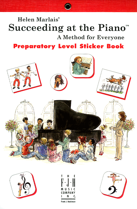 Succeeding at the Piano! , Sticker Book - Preparatory