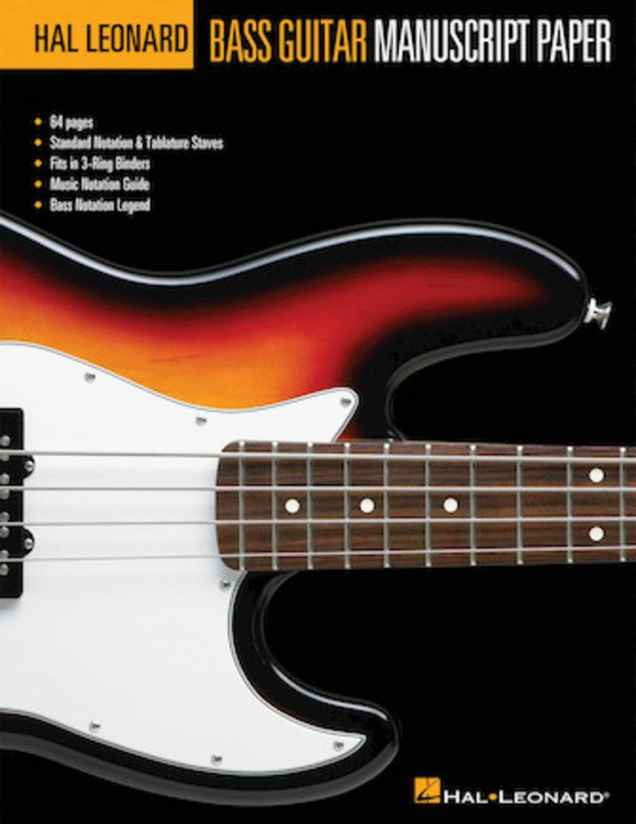 Hal Leonard Bass Guitar Manuscript Paper