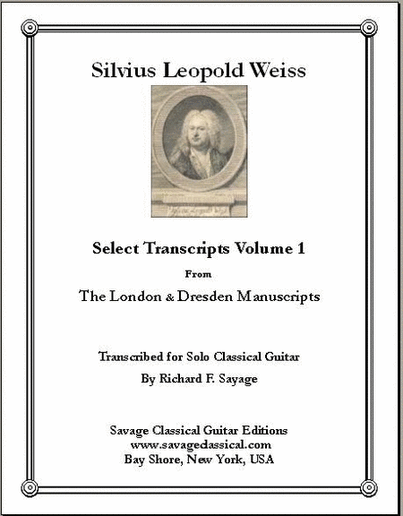 Select Transcripts Volume 1 for the Solo Classical Guitarist