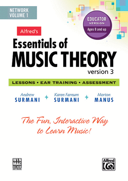 Alfred's Essentials of Music Theory Software, Version 3 Network Version, Volume 1