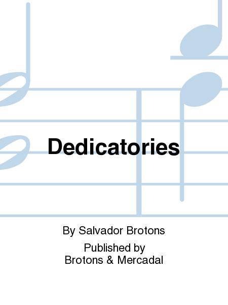 Dedicatories