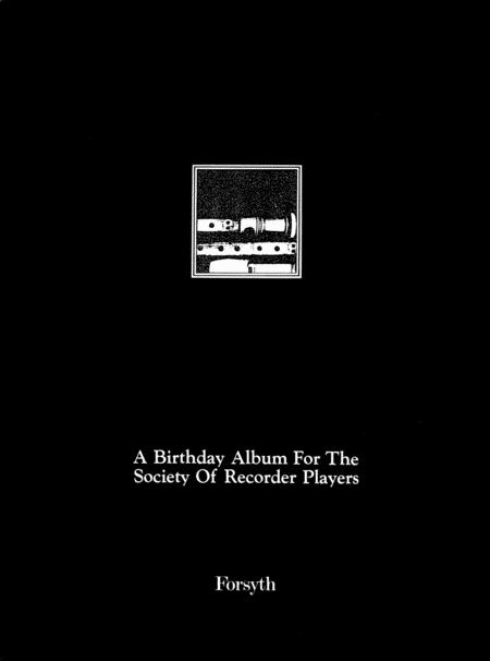 Society of Recorder Players Birthday Album
