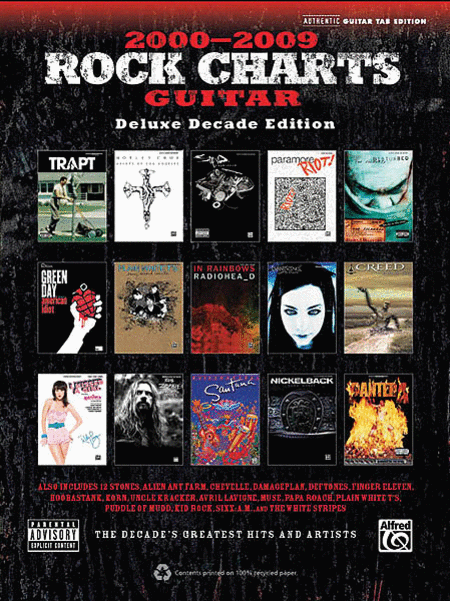 Rock Charts Guitar 2000-2009 - Deluxe Decade Edition