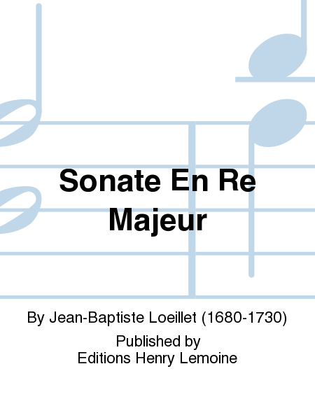 Sonate en Re maj.