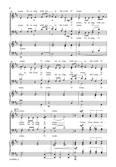 O Come, Let Us Sing
