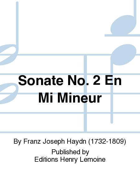 Sonate no. 2 en Mi min.