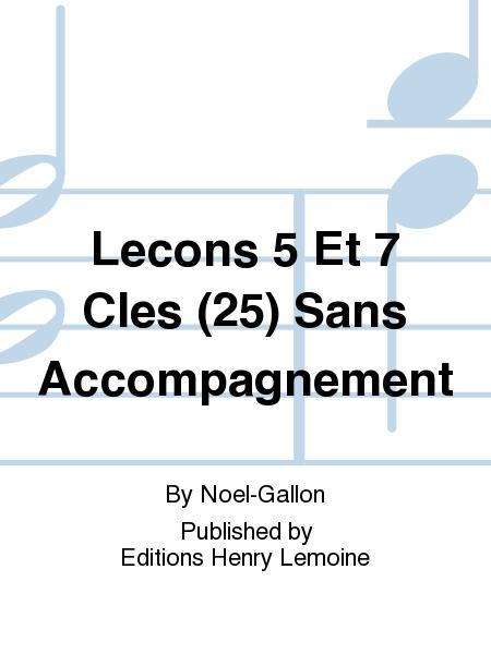 Lecons 5 Et 7 Cles (25) Sans Accompagnement