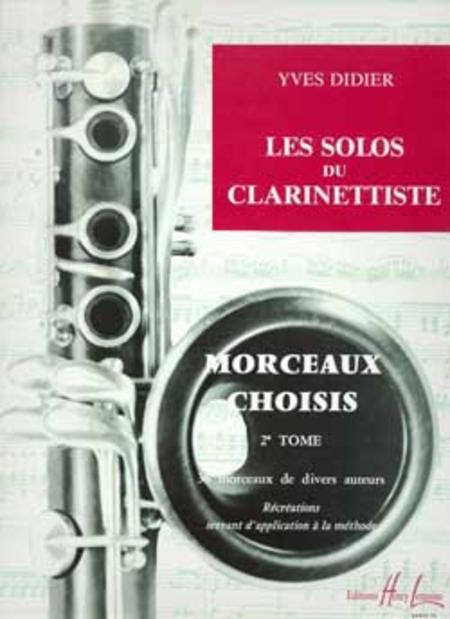 Les Solos Du Clarinettiste - Volume 2