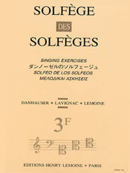 Solfege Des Solfeges - Volume 3F Sans Accompagnement