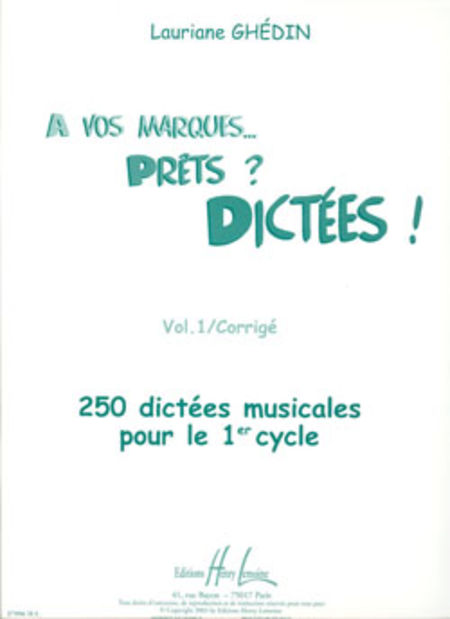 A Vos Marques, Prets / Dictees - Volume 1 (Corriges)