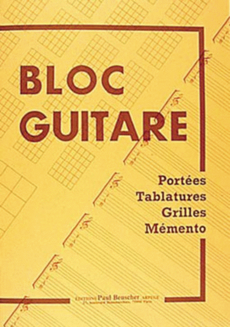 Bloc guitare - Tablatures, grilles et chord boxes