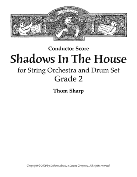 Shadows in the House for String Orchestra and Drum Set - Score