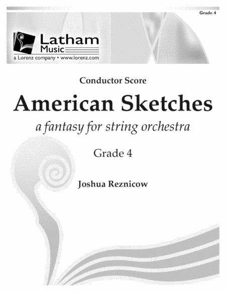 American Sketches: A Fantasy for String Orchestra - Score