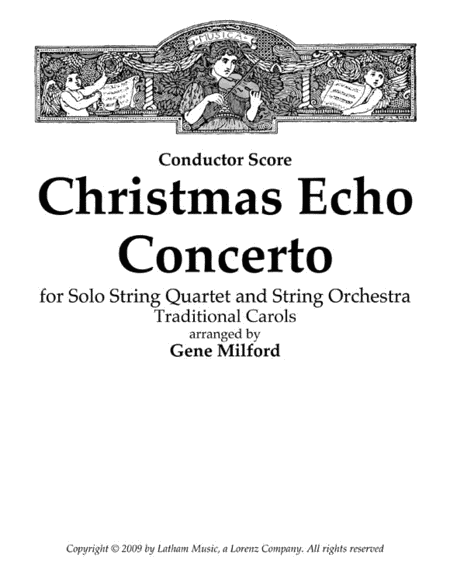 Christmas Echo Concerto for Solo String Quartet and String Orchestra - Score