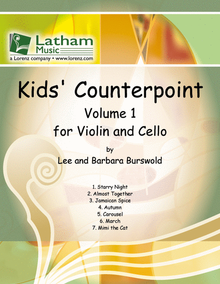Kids' Counterpoint: Volume 1 for Violin and Cello