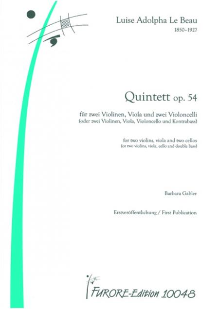 String Quintet op. 54 (1900)