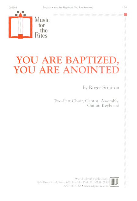 You Are Baptized, You Are Anointed