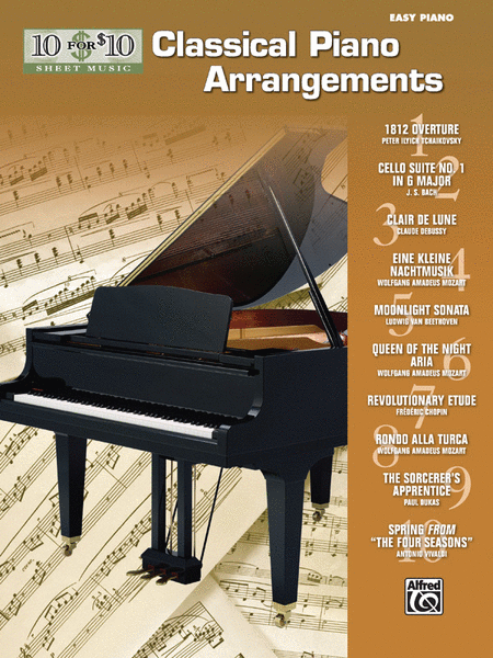10 for 10 Sheet Music Classical Piano Arrangements