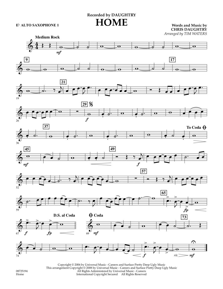Home - Eb Alto Saxophone 1