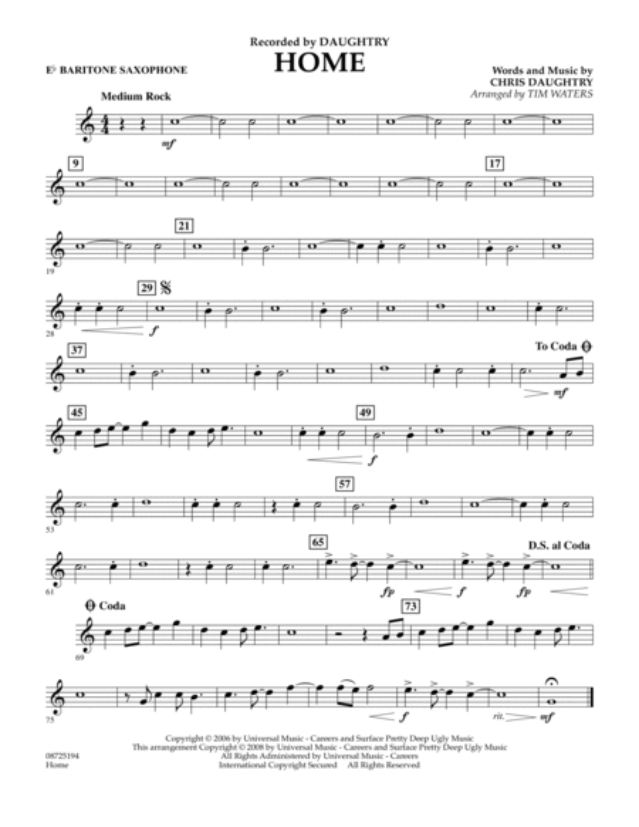 Home - Eb Baritone Saxophone