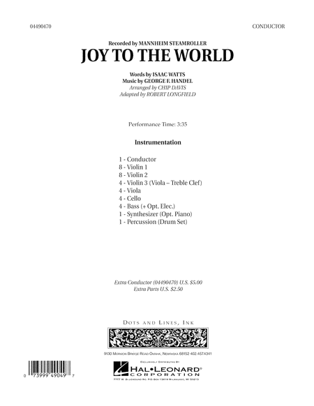 Joy To The World - Conductor Score (Full Score)
