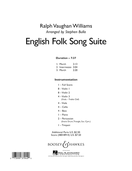 English Folk Song Suite - Conductor Score (Full Score)