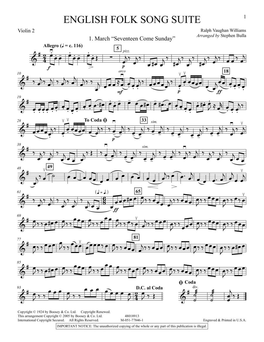 English Folk Song Suite - Violin 2