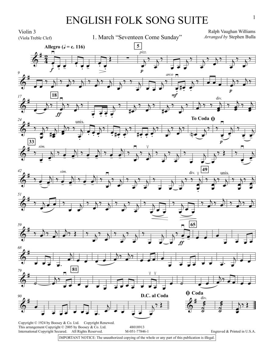 English Folk Song Suite - Violin 3 (Viola T.C.)