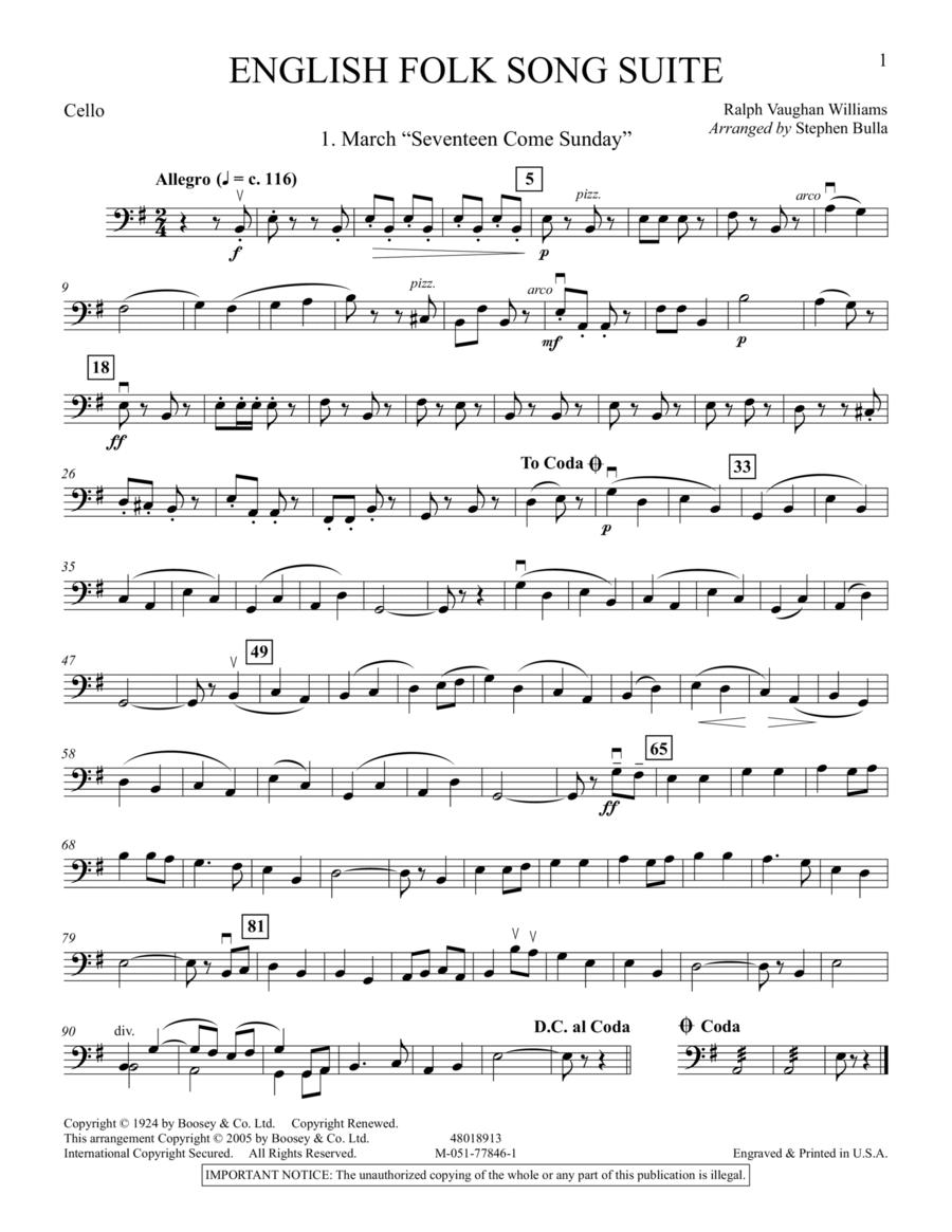 English Folk Song Suite - Cello