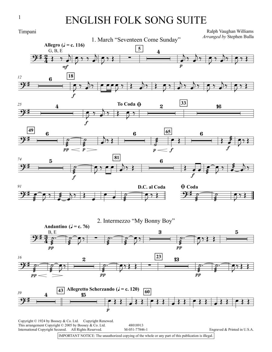 English Folk Song Suite - Timpani