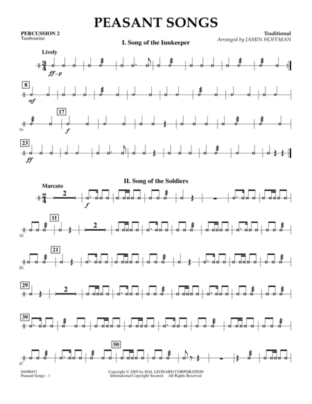 Peasant Songs - Percussion 2