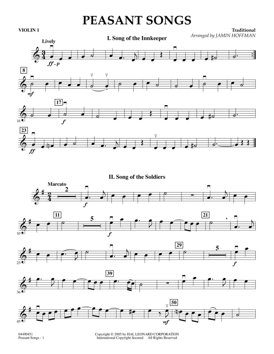 Peasant Songs - Violin 1