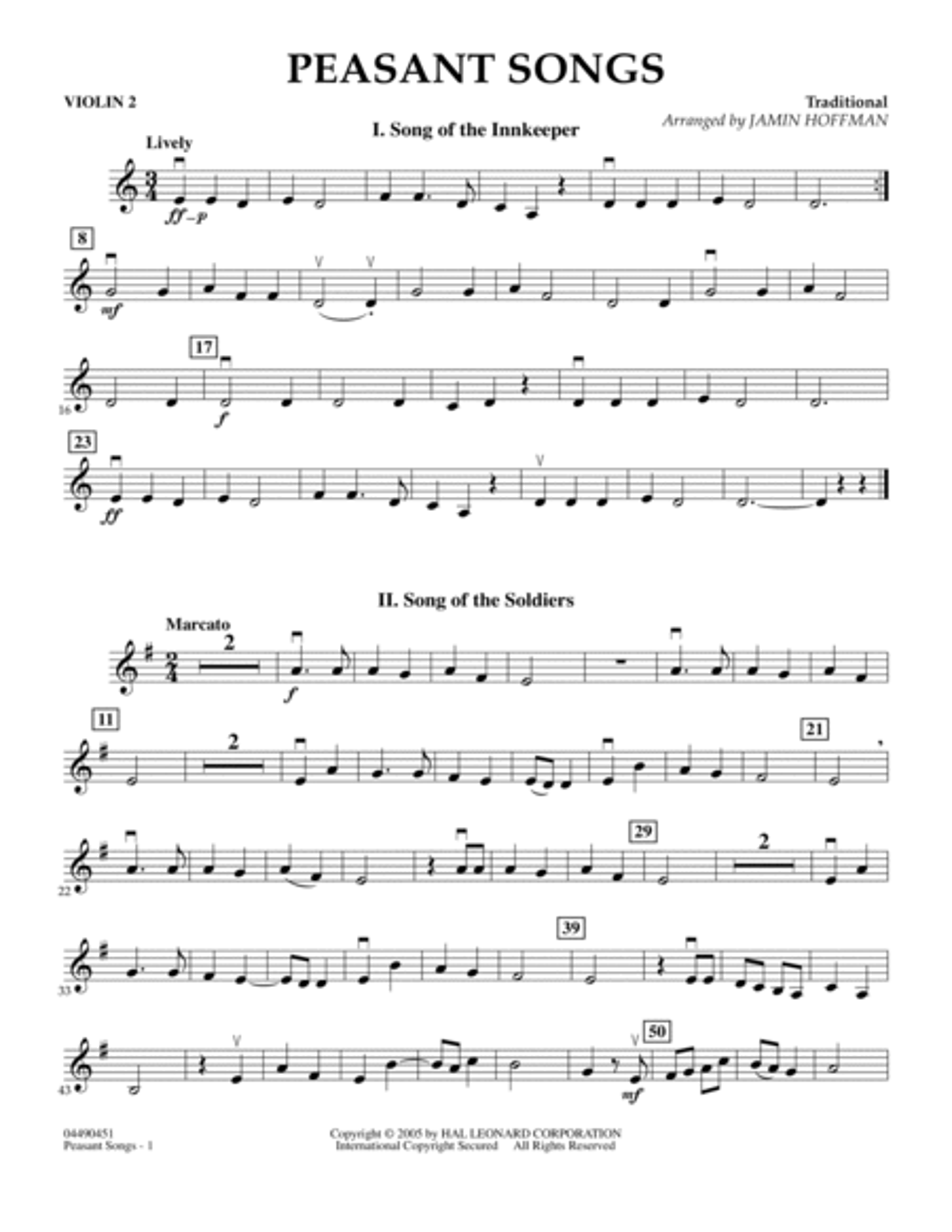 Peasant Songs - Violin 2
