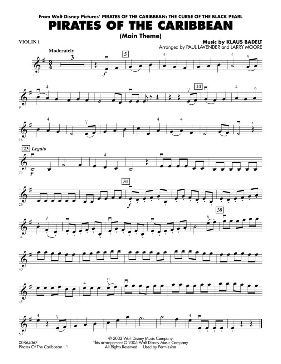 Pirates Of The Caribbean (Main Theme) - Violin 1