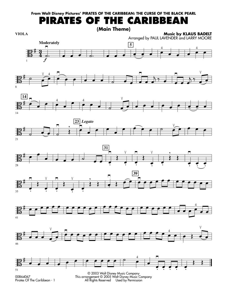 Pirates Of The Caribbean (Main Theme) - Viola
