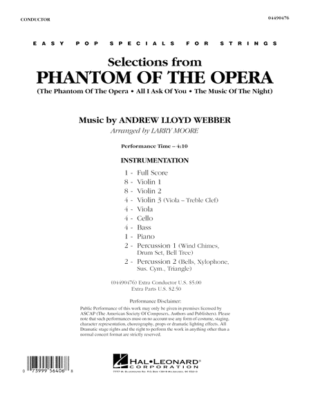 Selections from Phantom Of The Opera - Full Score