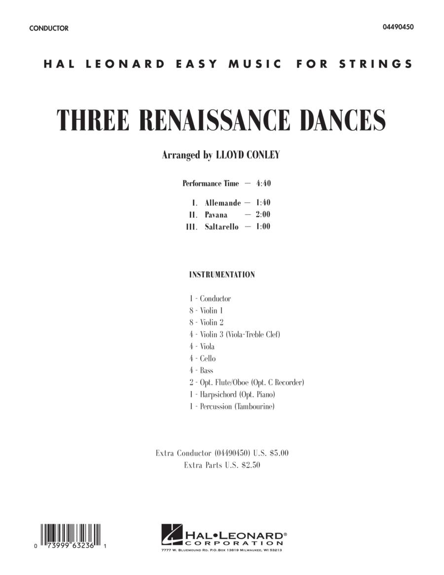 Three Renaissance Dances - Conductor Score (Full Score)
