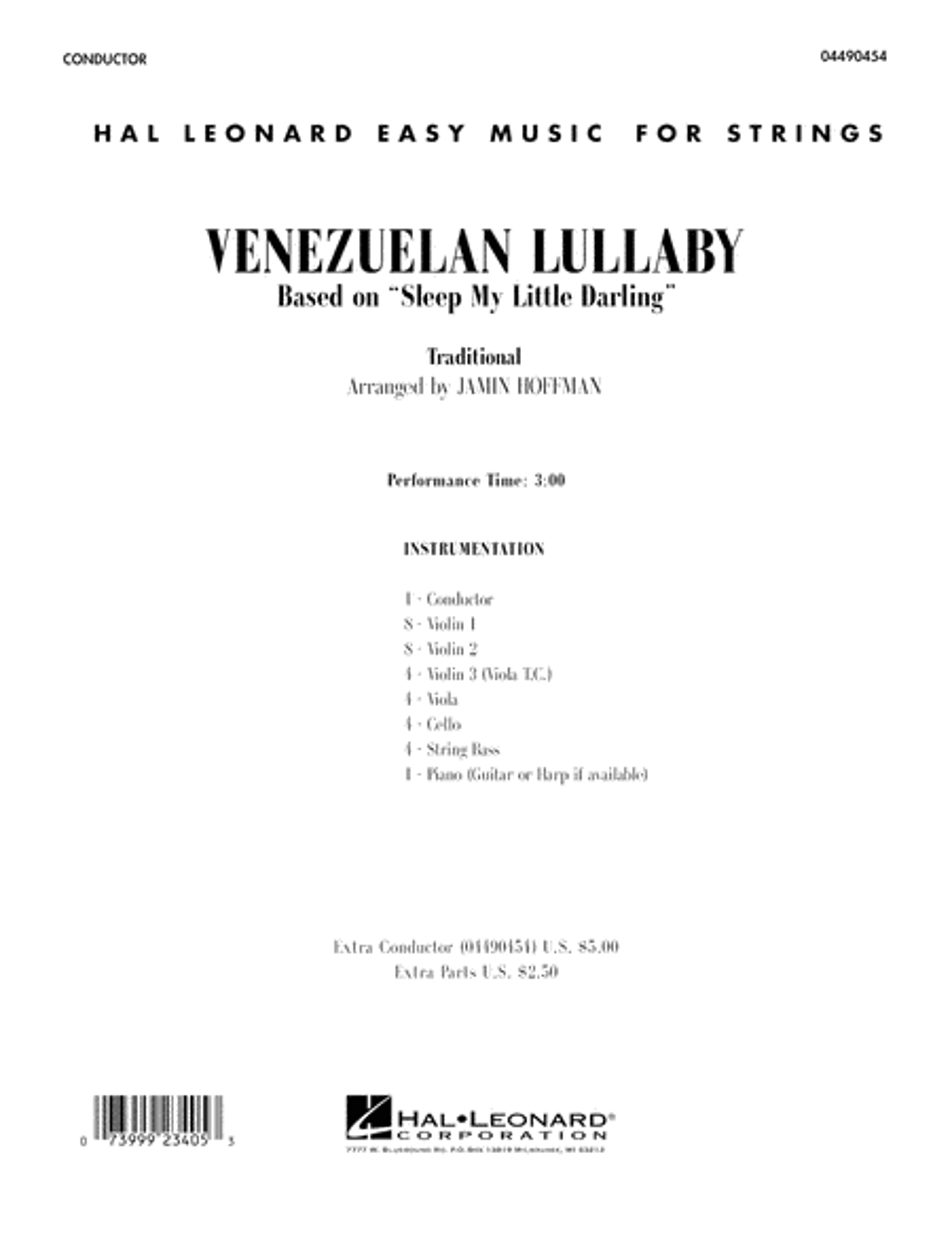 Venezuelan Lullaby - Conductor Score (Full Score)
