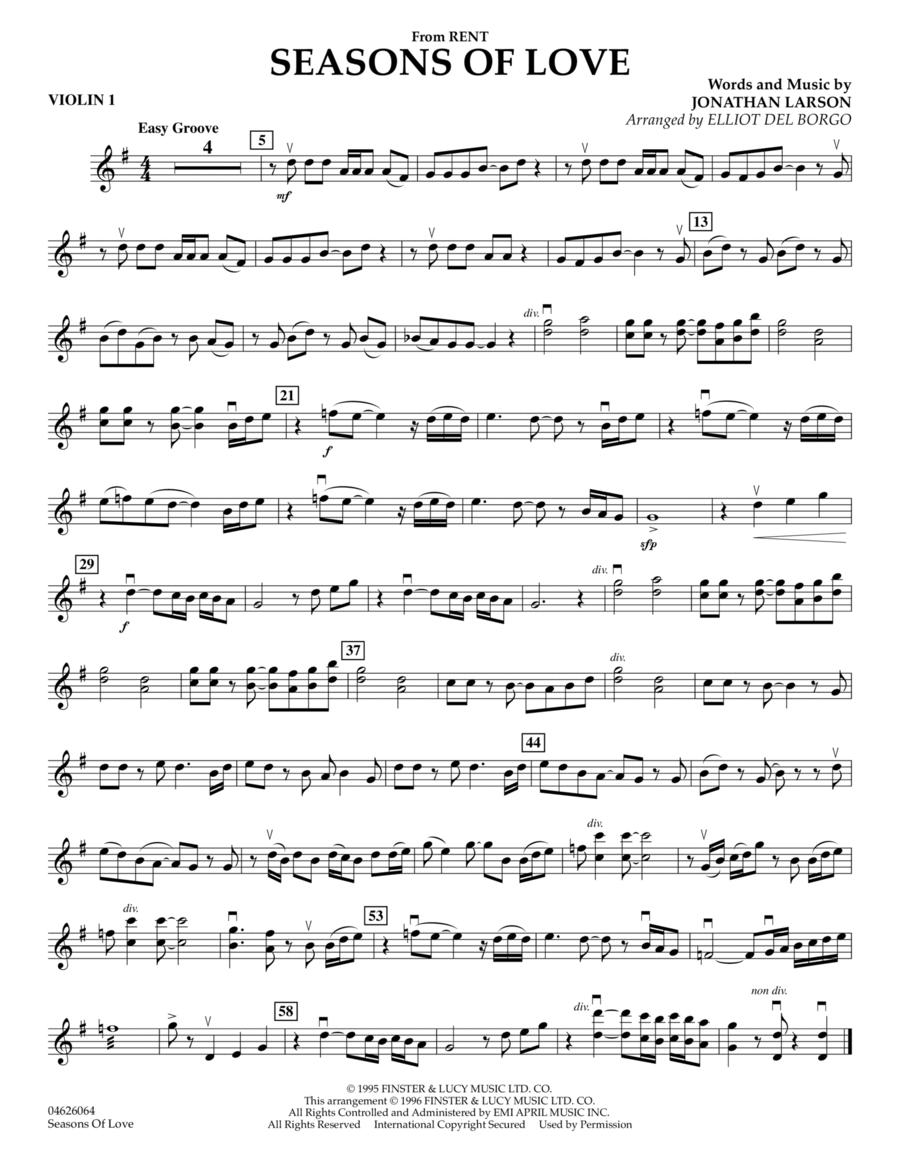 Seasons Of Love - Violin 1