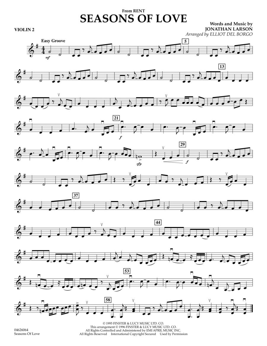 Seasons Of Love - Violin 2