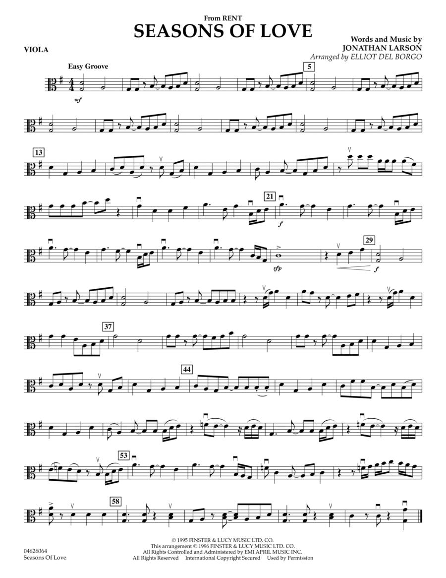Seasons Of Love - Viola
