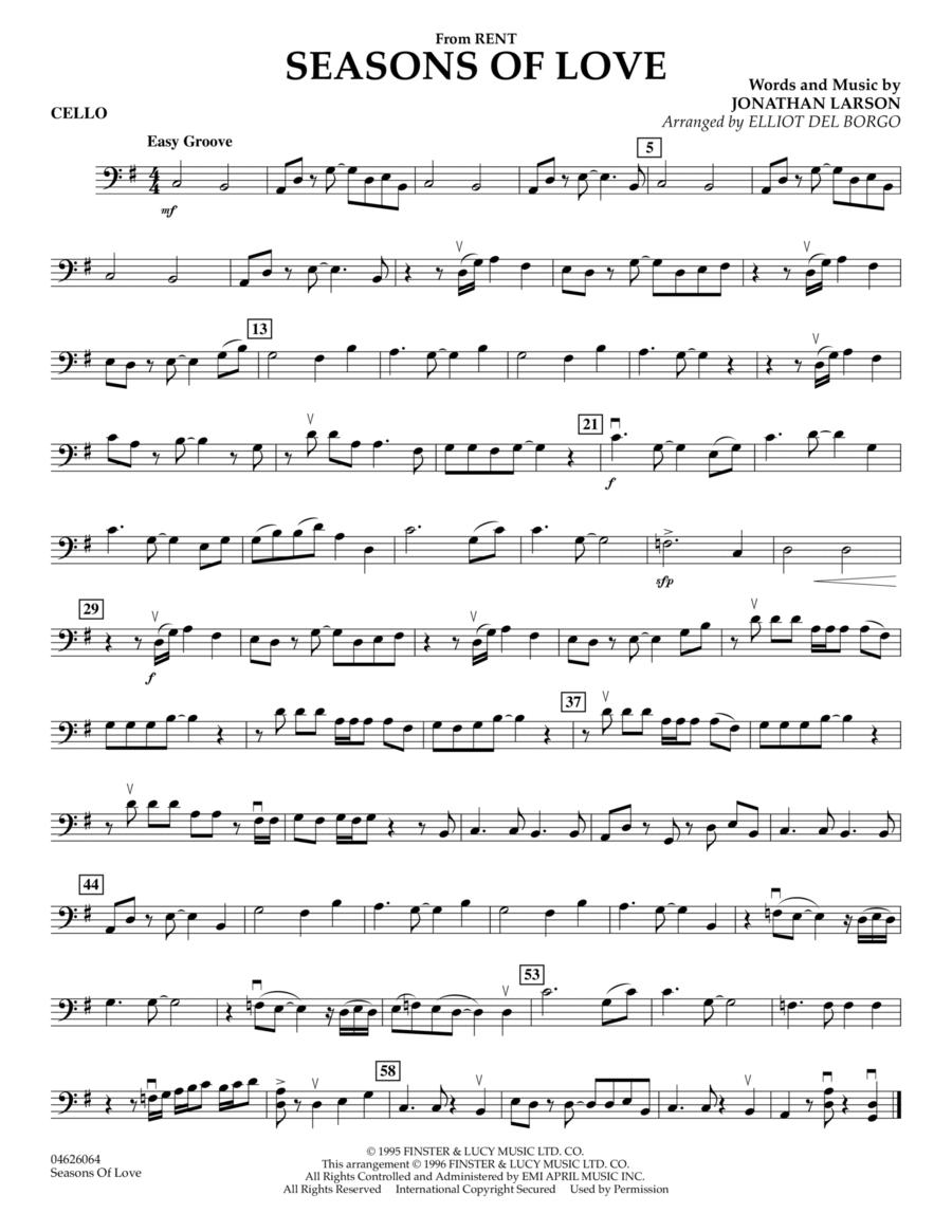 Seasons Of Love - Cello