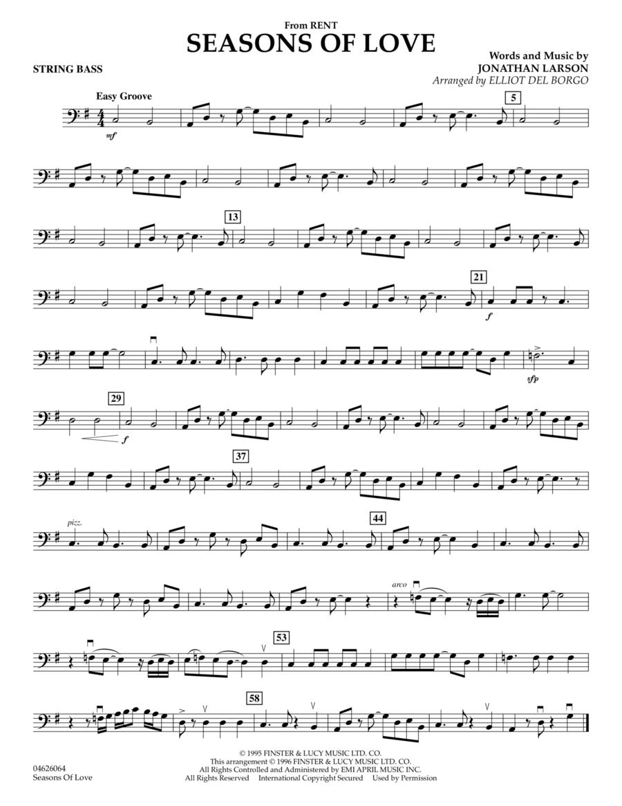 Seasons Of Love - String Bass