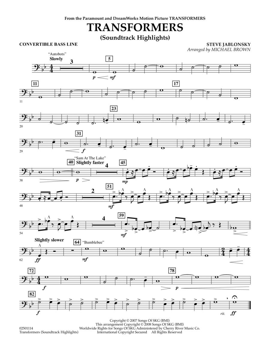 Transformers Soundtrack Highlights - Convertible Bass Line