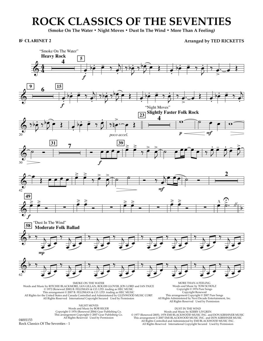 Rock Classics Of The Seventies - Bb Clarinet 2