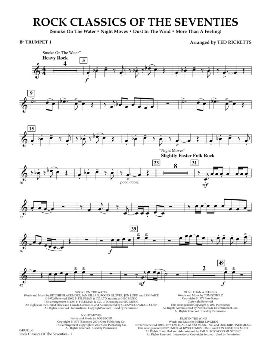 Rock Classics Of The Seventies - Bb Trumpet 1
